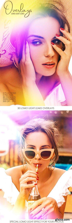 GraphicRiver - Lomo Light Leaks Overlays - Full Pack 33390301