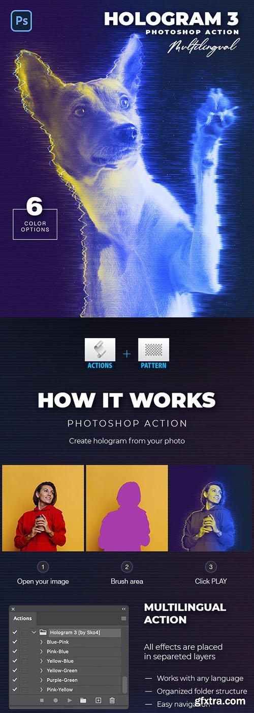 GraphicRiver - Hologram 3 Photoshop Action 33091150