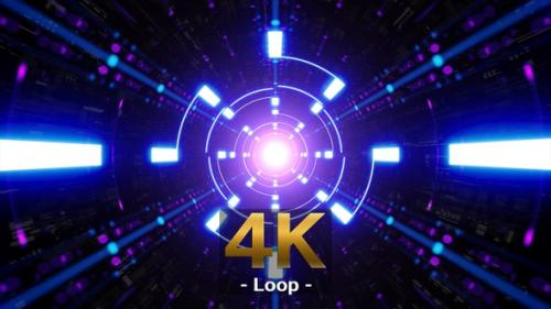 Videohive - Blue Spin Light Neon Tunnel - 33848102 - 33848102