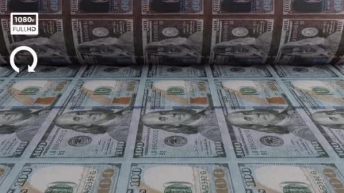 Videohive - Dollar Money Printing Machine Front View - 33850436 - 33850436