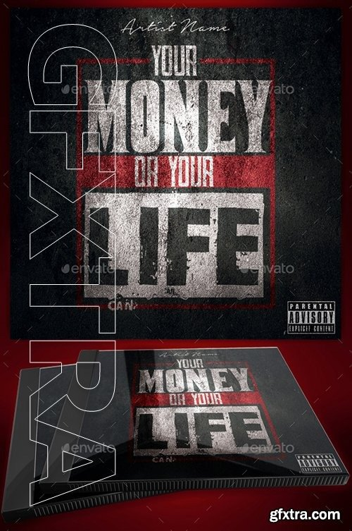 Graphicriver - Money or Your Life Mixtape Cover Flyer Template 21033913