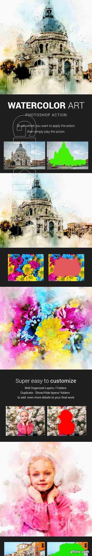 GraphicRiver - Watercolor Art Photoshop Action 20934035