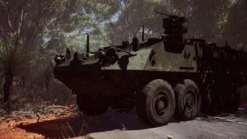 Videohive - Armored Battle Army Tank on the Road - 33850915 - 33850915