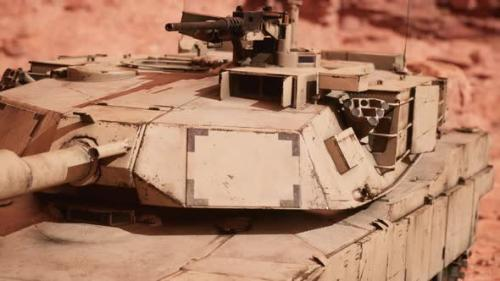 Videohive - American Tank Abrams in Afghanistan - 33850926 - 33850926