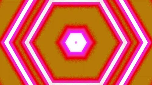 Videohive - Abstract moving graphic background. For show, colorful animated bright Ornaments. pentagon shape - 33853728 - 33853728