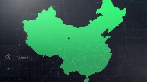 Videohive - Digital Tech China Map - 33859264 - 33859264