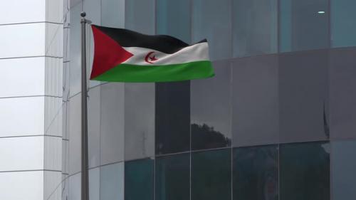 Videohive - Western Sahara Flag Background 4K - 33859580 - 33859580