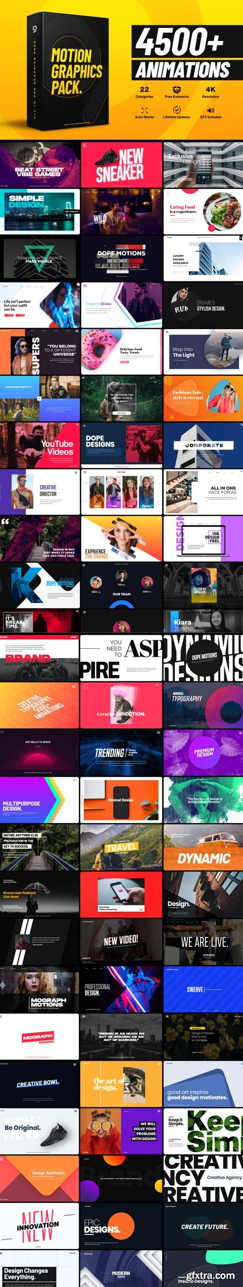 Videohive - 4500+ Graphics Pack V5 - 25010010