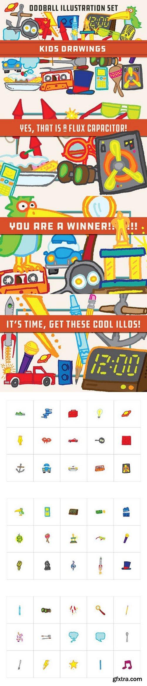 Kids Drawings - Oddball Illustraions