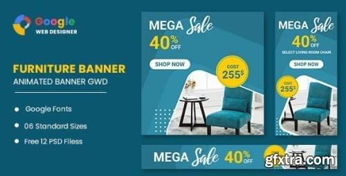 CodeCanyon - Furniture Sale Google Adwords HTML5 Banner Ads GWD v1.0 - 33843679