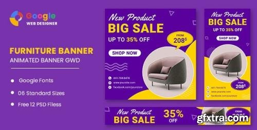 CodeCanyon - Furniture Model Google Adwords HTML5 Banner Ads GWD v1.0 - 33843675
