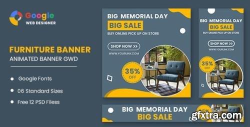 CodeCanyon - Furniture Model Google Adwords HTML5 Banner Ads GWD v1.0 - 33843659