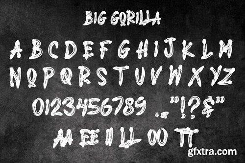 BIG GORILLA - Brush Typeface
