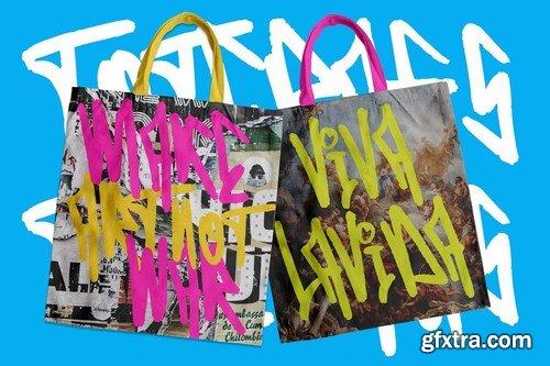Edcosmic - An Urban Art Graffiti Font