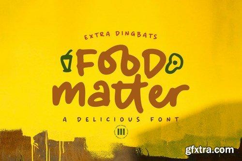 Food Matter - A Delicious Handwritten Font
