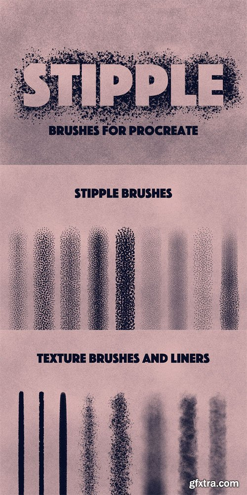 17 Stippling Brushes Procreate