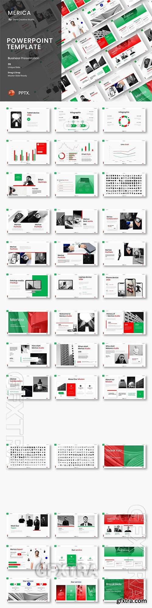 Merica - Business Powerpoint, Keynote and Google Slides Template