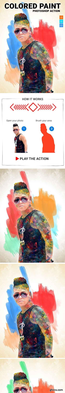 GraphicRiver - Colored Paint Photoshop Action 20575430