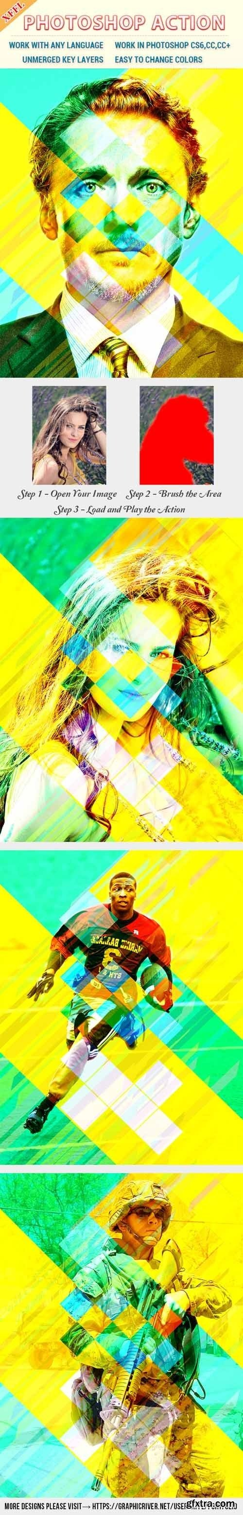 GraphicRiver - Colorful Rectangles Effect Photoshop Action 20566475