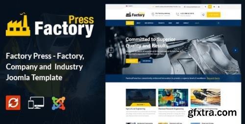ThemeForest - Factory Press v2.0 - Industrial Business Joomla Template - 18070580