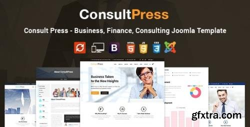 ThemeForest - Consult Press v2.0 - Finance & Consulting Business Joomla Template - 19357720