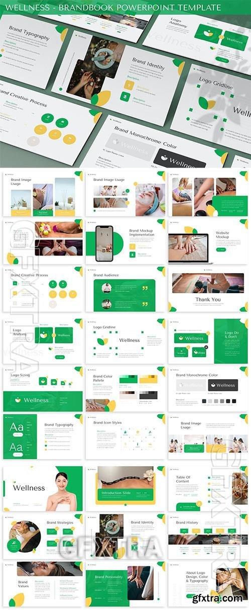 Wellness - Brandbook Powerpoint Template AHCPXZM