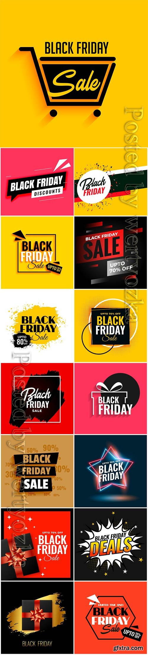 Black friday gift background sale template