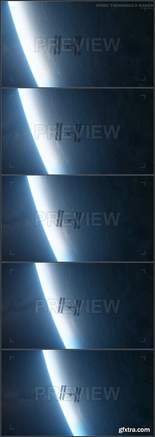 International Space Station Silhouette 1003664