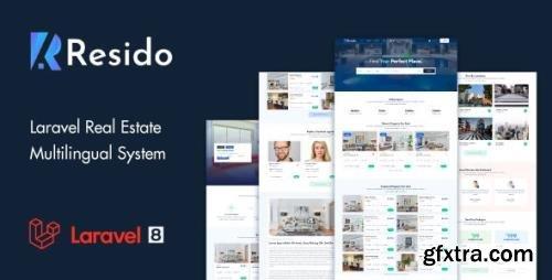 CodeCanyon - Resido v1.8.0 - Laravel Real Estate Multilingual System - 33229932 - NULLED