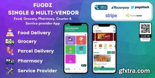 CodeCanyon - Fuodz v1.3.7 - Grocery, Food, Pharmacy Courier & Service Provider + Backend + Driver & Vendor app - 31145802