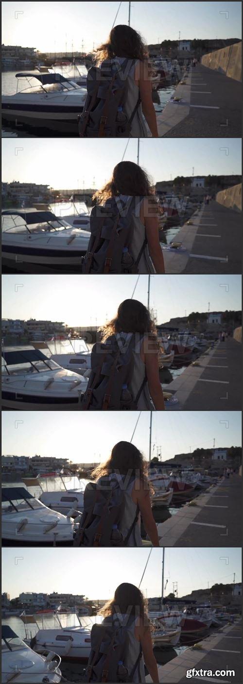 Walking Along The Harbor 1025944