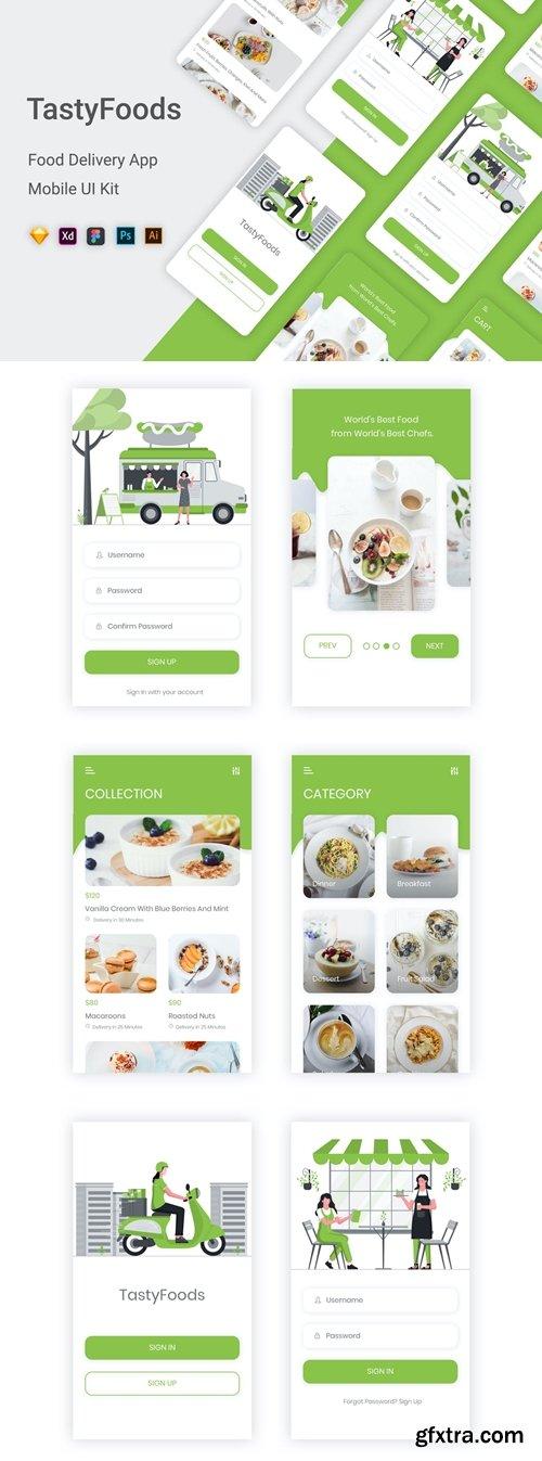 TastyFoods - Online Food Delivery Mobile App