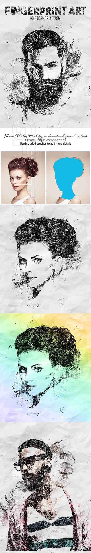 GraphicRiver - Fingerprint Art Photoshop Action 20410471