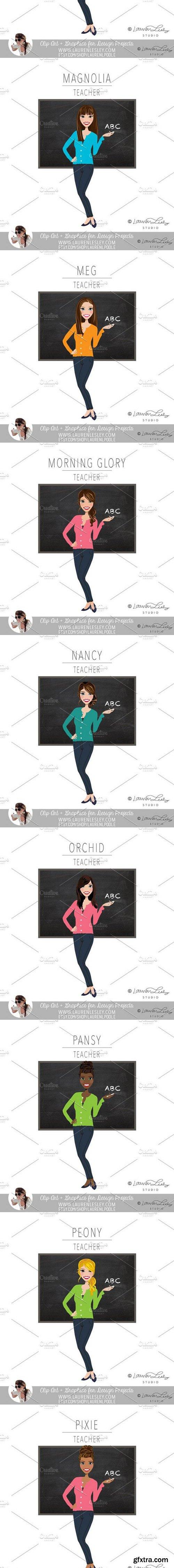 Teacher Portrait Logo