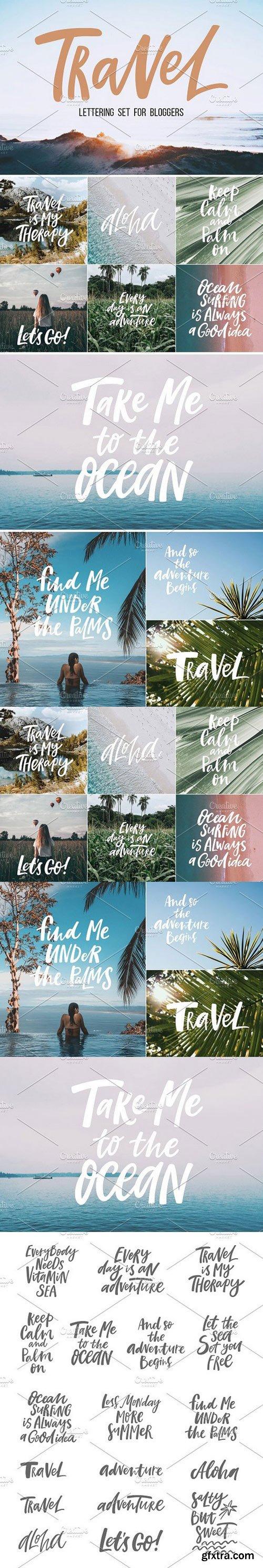 Travel lettering set
