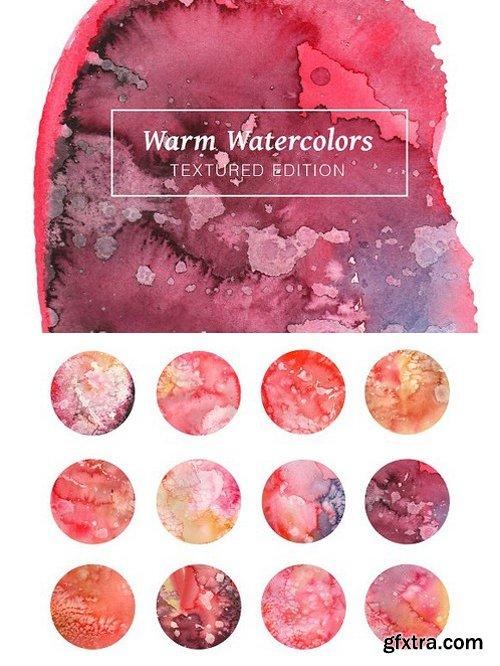 Warm Textured Watercolors