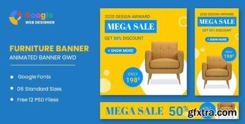 CodeCanyon - Furniture Google Adwords HTML5 Banner Ads GWD v1.0 - 33905450