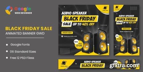 CodeCanyon - Black Friday Sale Audio HTML5 Banner Ads GWD v1.0 - 33905473