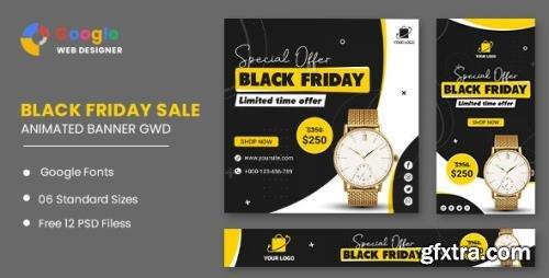 ThemeForest - Black Friday Sale Watch HTML5 Banner Ads GWD v1.0 - 33905465