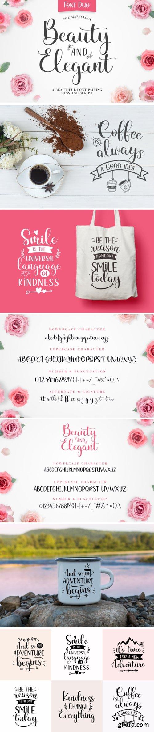 Beauty and Elegant Font