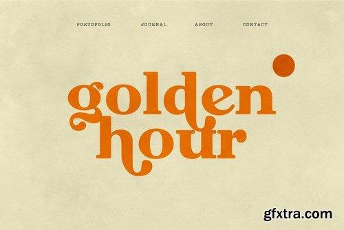 Megusto Modern Retro Serif Font
