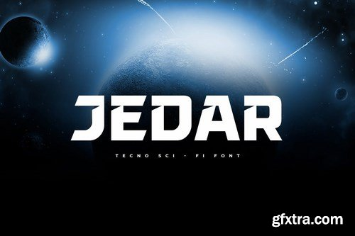 JEDAR - Techno Sci-fi Font