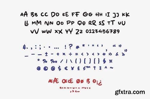 Mix Lower A Random Marker Font
