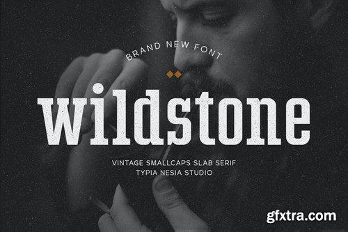 Wildstone - wild vintage smallcaps slab serif