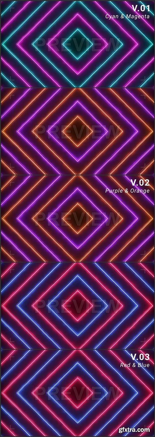 Neon Squares Vj Loop 417922