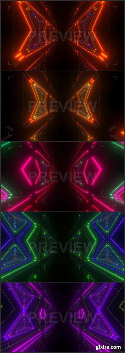 Geometric Neon Corridor Pack 418927
