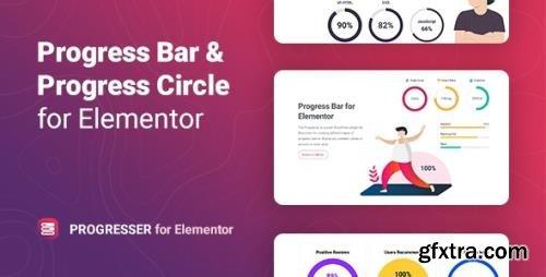 CodeCanyon - Progresser v1.0.0 - Progress Bar and Progress Circle for Elementor - 33947154