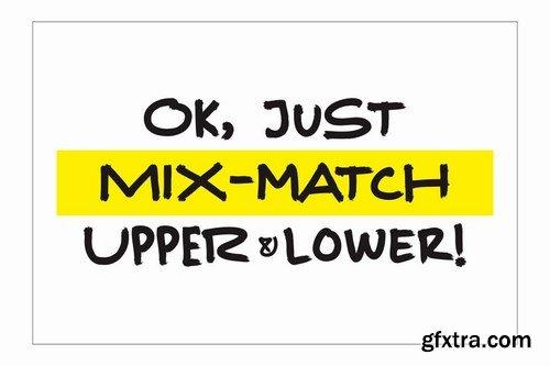 Marker Random A Mixmatch Font