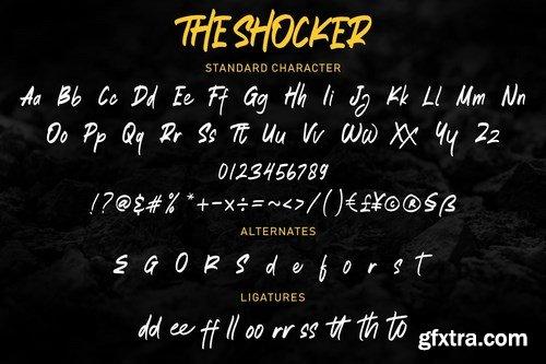 The Shocker - Handwritten Brush Font