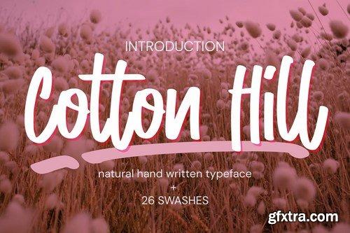 Cotton Hill - Natural Hand Written Typeface